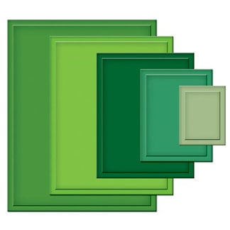 Spellbinders - Nestabilities Collection - Die Cutting and Embossing Templates - Large Classic Rectangles, CLEARANCE