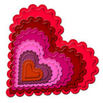Spellbinders - Nestabilities Collection - Die Cutting and Embossing Templates - Classic Scalloped Heart, CLEARANCE