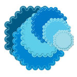 Spellbinders - Nestabilities Collection - Die Cutting and Embossing Templates - Large Scalloped Octagons, CLEARANCE