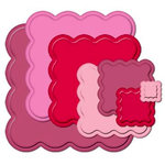 Spellbinders - Nestabilities Collection - Die Cutting and Embossing Templates - Big Scalloped Squares - Large, CLEARANCE