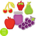 Spellbinders - Shapeabiltities Collection - Die Cutting and Embossing Templates - Assorted Fresh Fruit, CLEARANCE