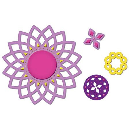 Spellbinders - Shapeabiltities Collection - Die Cutting and Embossing Templates - Lotus Pendants