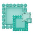 Spellbinders - Nestabilities Collection - Die Cutting and Embossing Templates - Beaded Squares