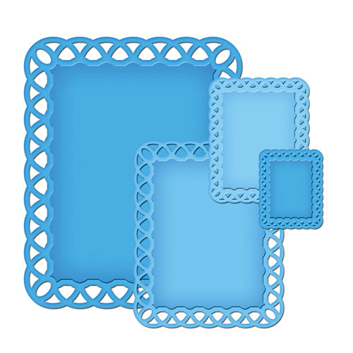 Spellbinders - Nestabilities Collection - Die Cutting and Embossing Templates - Lattice Rectangles