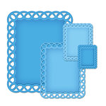 Spellbinders Nestabilities Lattice Rectangles Die