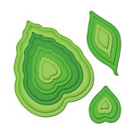 Spellbinders - Shapeabilities Collection - Die Cutting and Embossing Templates -Nested Leaves