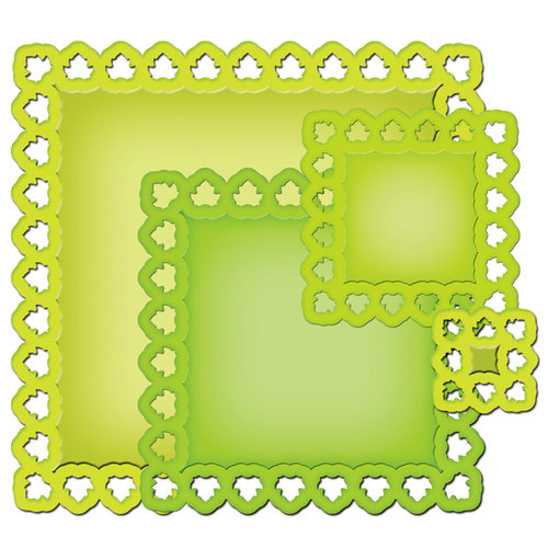 Spellbinders - Nestabilities Collection - Die Cutting and Embossing Templates - Leafy Squares
