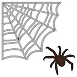 Spellbinders - Shapeabilities Collection - Halloween - Die Cutting and Embossing Templates - Spider Web