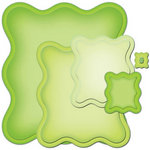 Spellbinders - Nestabilities Collection - Die Cutting and Embossing Templates - Wavy Rectangles