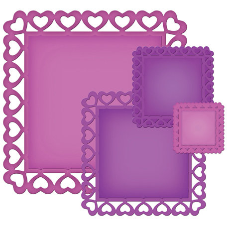 Spellbinders - Nestabilities Collection - Die Cutting and Embossing Templates - Heart Squares