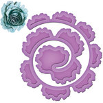 Spellbinders - Shapeabilities Collection - Die Cutting and Embossing Templates - Spiral Blossom One