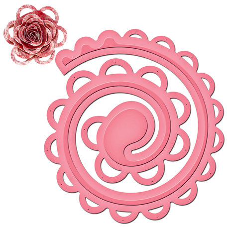 Spellbinders - Shapeabilities Collection - Die Cutting and Embossing Templates - Spiral Blossom Two