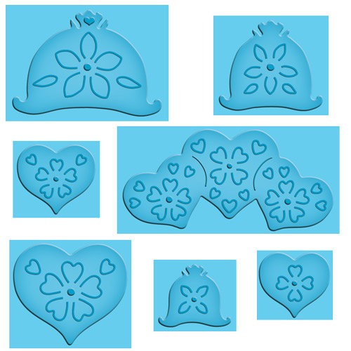 Spellbinders - Enhanceabilities Collection - Die Cutting and Embossing Templates - Pop Ups - Hearts And Flowers