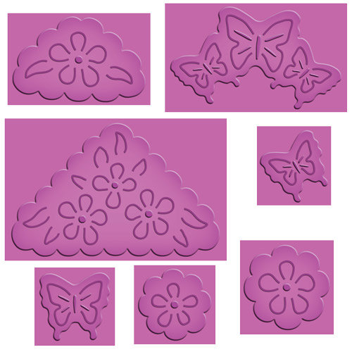 Spellbinders - Enhanceabilities Collection - Die Cutting and Embossing Templates - Pop Ups - Butterflies And Flowers