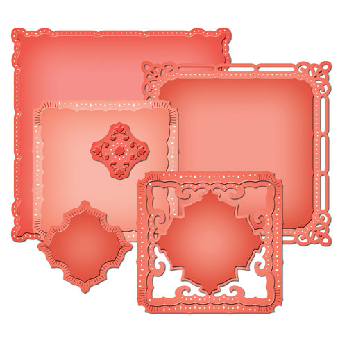 Spellbinders - Nestabilities Collection - Die Cutting and Embossing Templates - Majestic Elements - Marvelous Squares