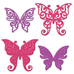 Spellbinders - Shapeabilities Collection - Die Cutting and Embossing Template - Les Papillions Two