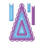 Spellbinders - Shapeabilities Collection - Die Cutting and Embossing Templates - Nested Lacey Pennants