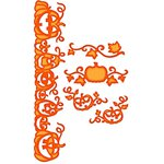 Spellbinders - Shapeabilities Collection - Halloween - Die Cutting and Embossing Templates - Pumpkin Accents
