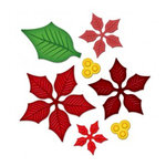 Spellbinders - Shapeabilities Collection - Christmas - Die Cutting and Embossing Templates - Layered Poinsettia