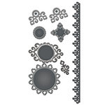 Spellbinders - Shapeabilities Collection - Die Cutting and Embossing Templates - Ironwork Accents