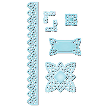 Spellbinders - Shapeabilities Collection - Die Cutting and Embossing Templates - Lace Doily Accents