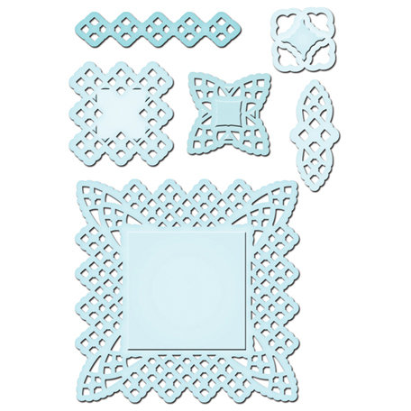 Spellbinders - Shapeabilities Collection - Die Cutting and Embossing Templates - Lace Doily Motifs