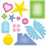 Spellbinders - Shapeabilities Collection - Nina B Designs - Die Cutting and Embossing Templates - Home Sweet Home