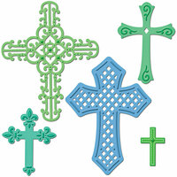 Spellbinders - Shapeabilities Collection - Die Cutting and Embossing Templates - Crosses Two