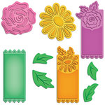 Spellbinders - Shapeabilities Collection - Die Cutting and Embossing Templates - Floral Tags