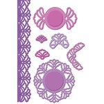 Spellbinders - Shapeabilities Collection - Die Cutting and Embossing Templates - Vintage Lace Accents