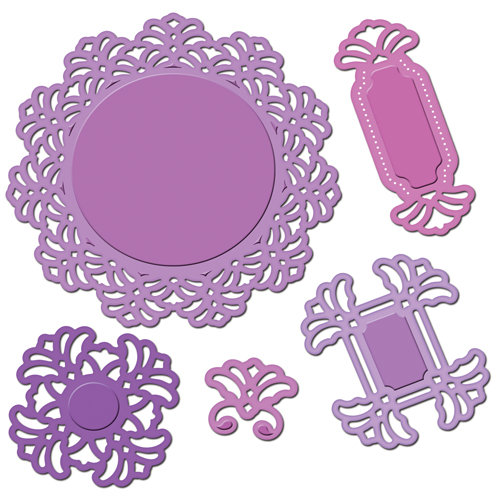 Spellbinders - Shapeabilities Collection - Die Cutting and Embossing Templates - Vintage Lace Motifs