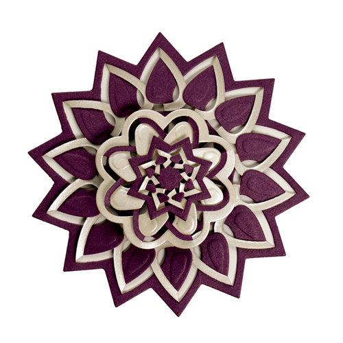 Spellbinders - Cut Fold and Tuck Die Cutting Template - Flower Burst