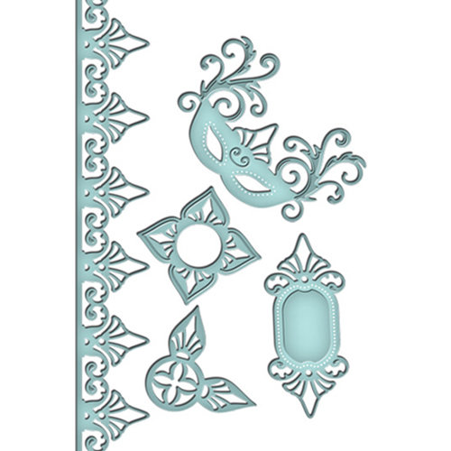 Spellbinders - Shapeabilities Collection - Die Cutting and Embossing Templates - Venetian Accents