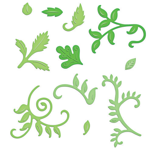 Spellbinders - Shapeabilities Collection - Die Cutting and Embossing Templates - Foliage Two