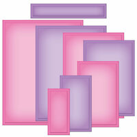 Spellbinders - Nestabilities Collection - Die Cutting and Embossing Templates - Card Creator - A2 Matting Basics A