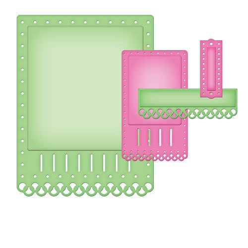 Spellbinders - Nestabilities Collection - Die Cutting and Embossing Templates - Card Creator - A2 Fancy Ribbon Threader