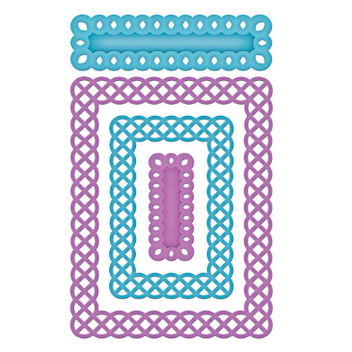 Spellbinders - Nestabilities Collection - Die Cutting and Embossing Templates - Card Creator - A2 Fancy Weave