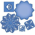 Spellbinders - Shapeabilities Collection - Die - Blossom Cut Fold and Tuck