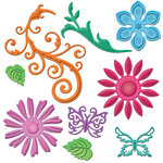 Spellbinders - Shapeabilities Collection - Die - Jewel Flowers And Flourishes