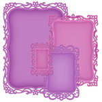 Spellbinders - Nestabilities Collection - Die Cutting and Embossing Templates - Decorative Labels Eight