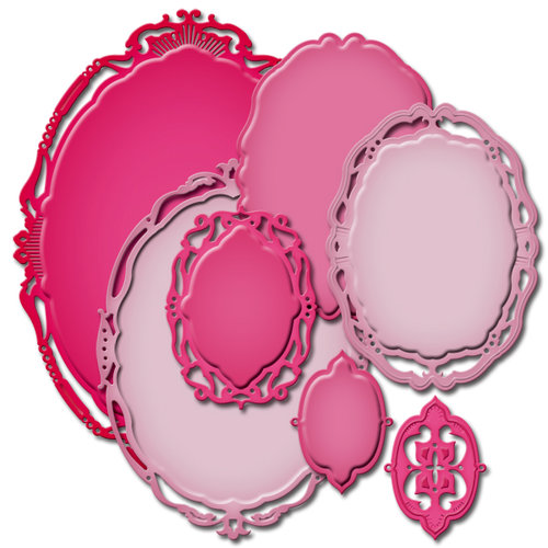 Spellbinders - Nestabilities Collection - Die Cutting and Embossing Templates - Opulent Ovals