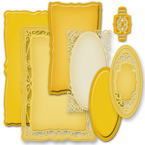 Spellbinders - Nestabilities Collection - Die Cutting and Embossing Templates - Radiant Rectangles