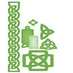 Spellbinders - Shapeabilities Collection - Die Cutting and Embossing Template - Celtic Accents