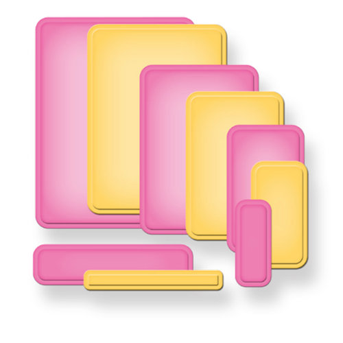 Spellbinders - Nestabilities Collection - Die Cutting and Embossing Templates - A2 Curved Matting Basics B