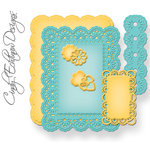 Spellbinders - Nestabilities Collection - Die Cutting and Embossing Templates - A2 Floral Ribbon Threader