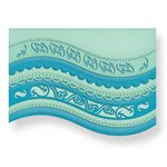 Spellbinders - Borderabilities Collection - Die Cutting and Embossing Template - A2 Curved Borders One