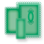 Spellbinders - Nestabilities Collection - Die Cutting and Embossing Templates - 5 x 7 Detailed Scallops