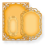 Spellbinders - Nestabilities Collection - Die Cutting and Embossing Templates - 5 x 7 Elegant Labels Four