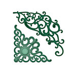 Spellbinders - Shapeabilities Collection - D-Lites Die - Corner Flourish 2