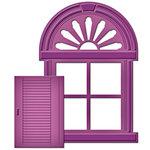 Spellbinders - Shapeabilities Collection - D-Lites Die - Shuttered Window